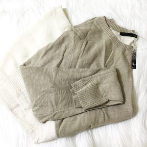 Cream colored layered tunic